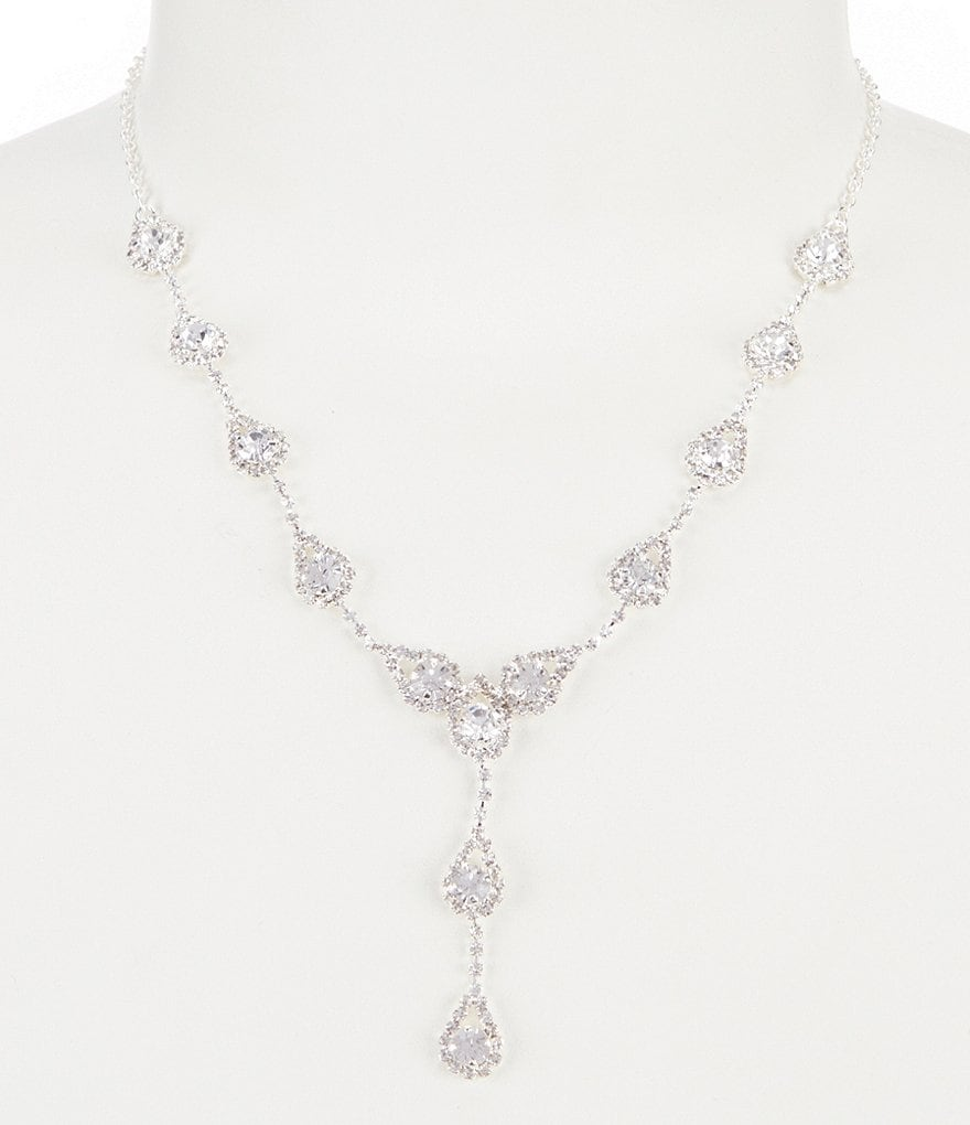 Cezanne Rhinestone Teardrop Y-Necklace