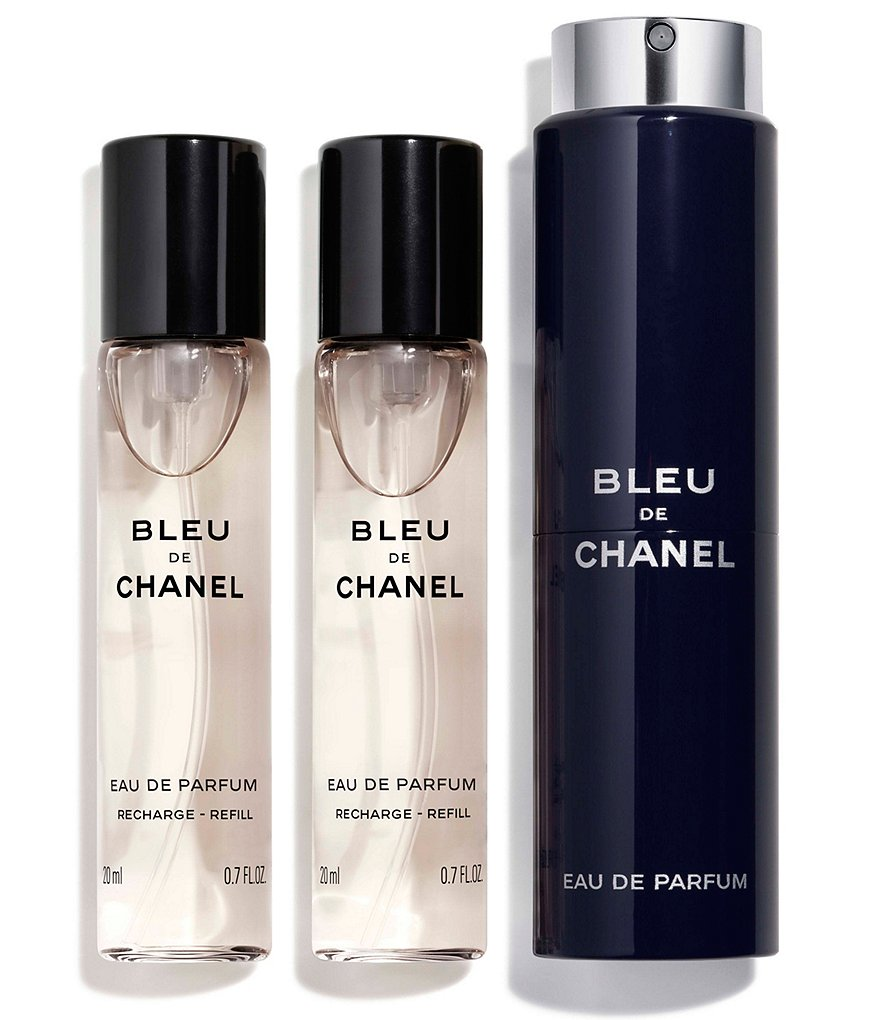CHANEL BLUE DE CHANEL EAU DE PARFUM POUR HOMME REFILLABLE TRAVEL SPRAY REFILLS
