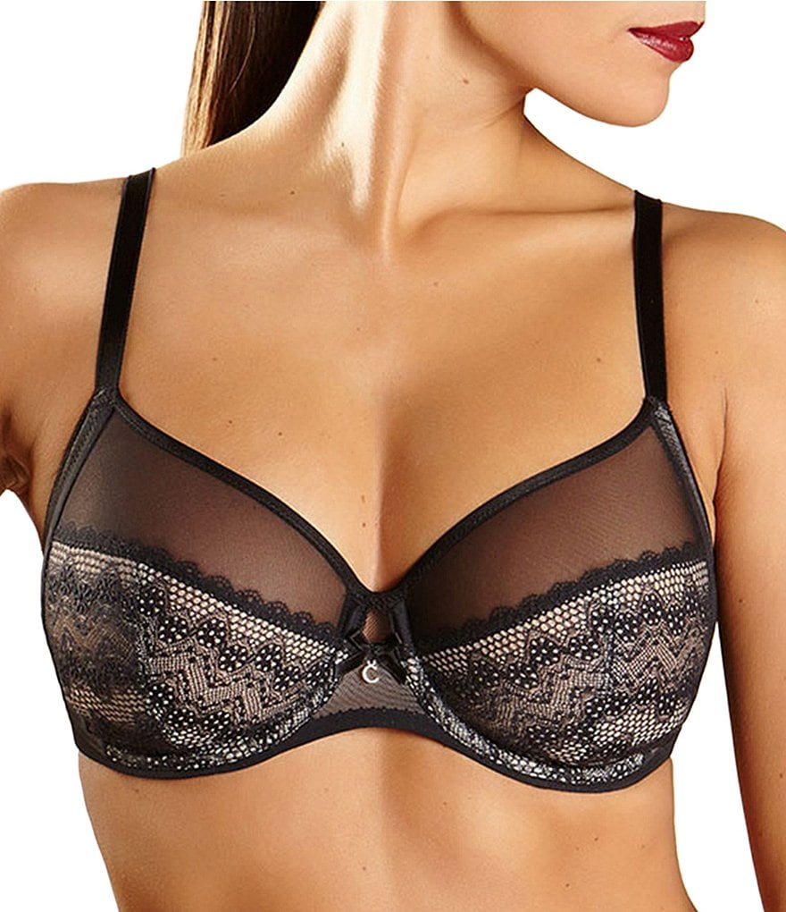Chantelle Revelation Lace Mesh Underwire Bra