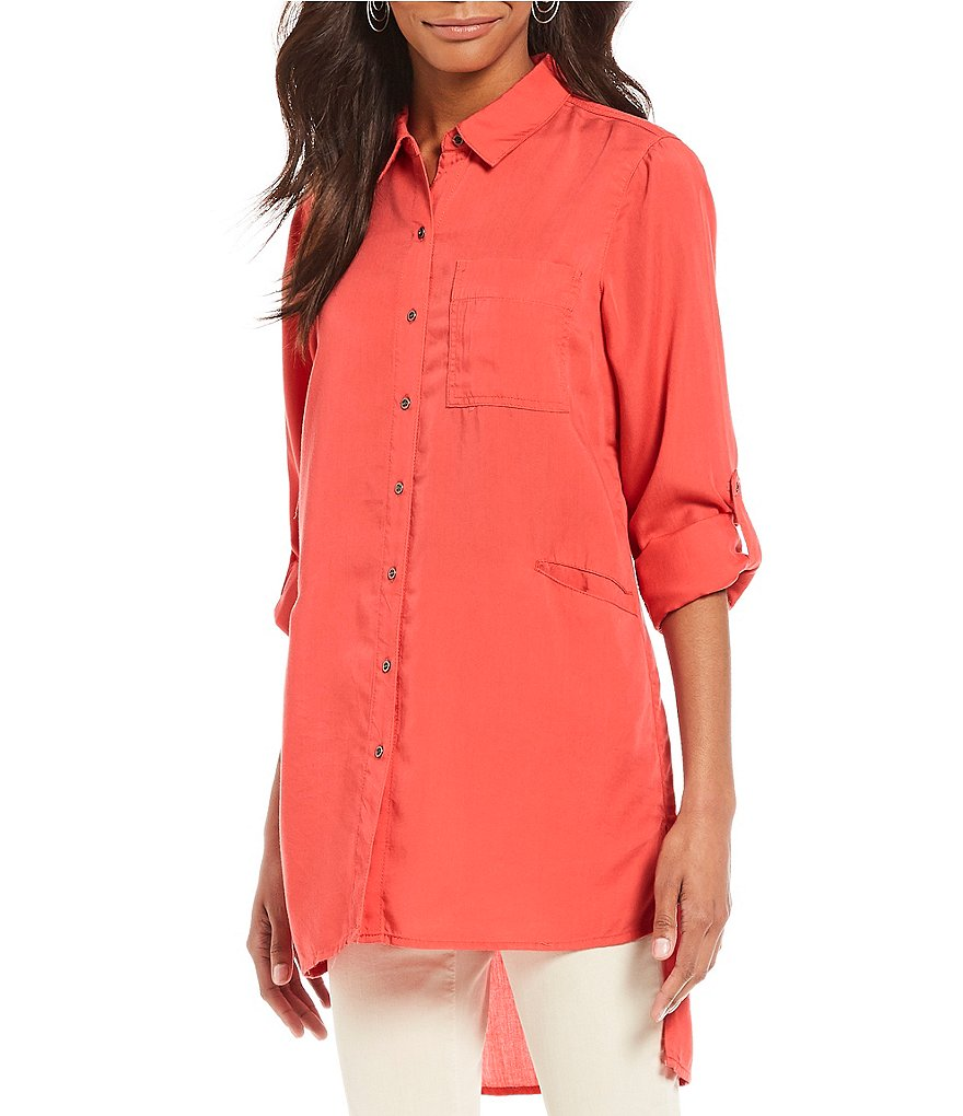 Chelsea & Theodore Button Front Tencel Tunic
