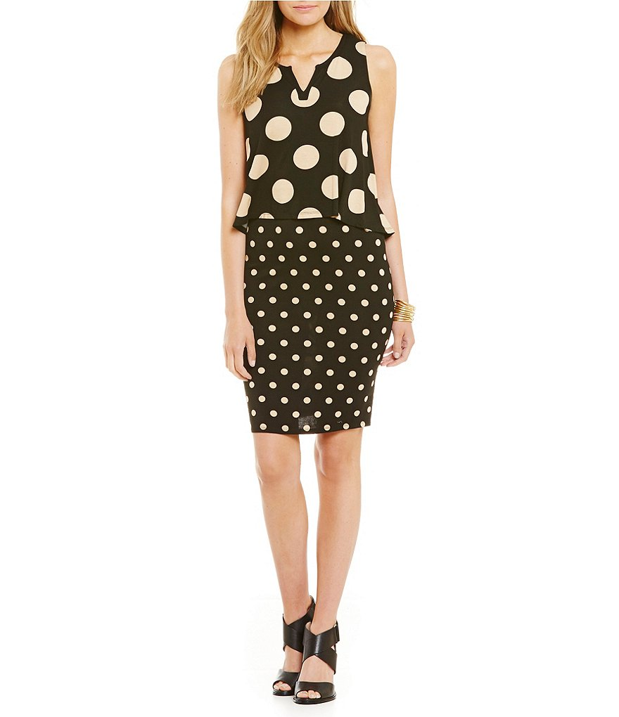 Chelsea & Theodore Polka Dot Popover Dress