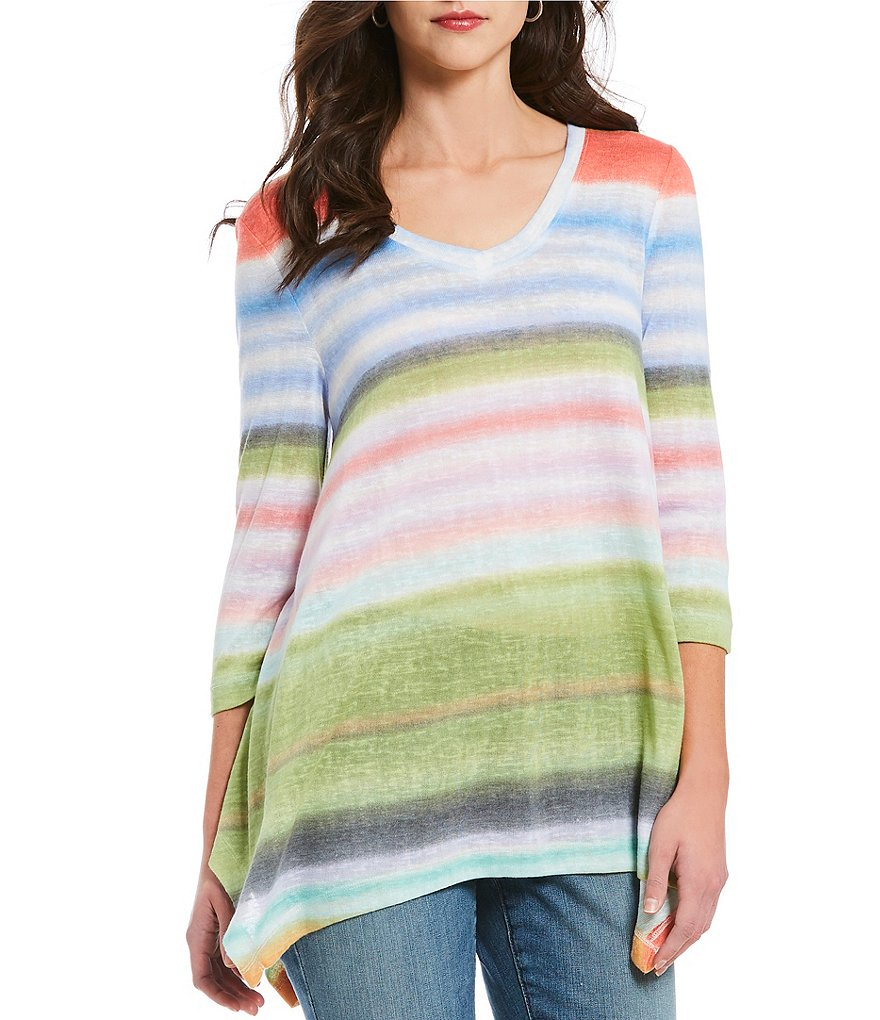 Chelsea & Theodore Watercolor Stripe Tunic