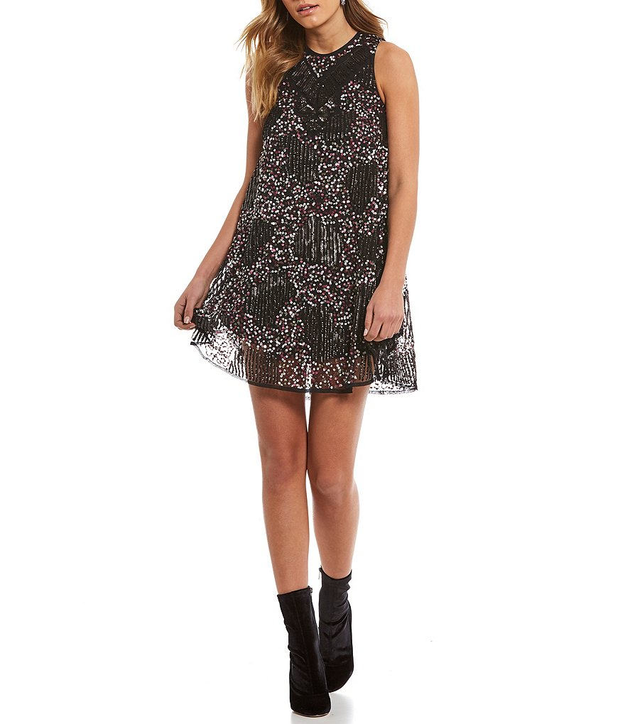 Chelsea & Violet All Over Sequin Dress