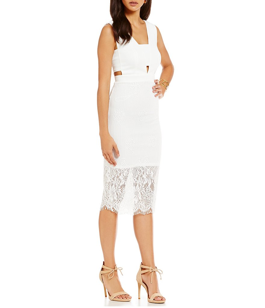 Chelsea & Violet Cut-Out Lace Sleeveless Dress