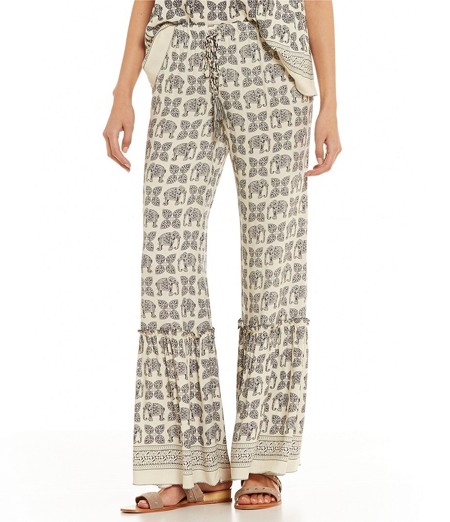 chelsea u0026 violet elephant print pant dillards