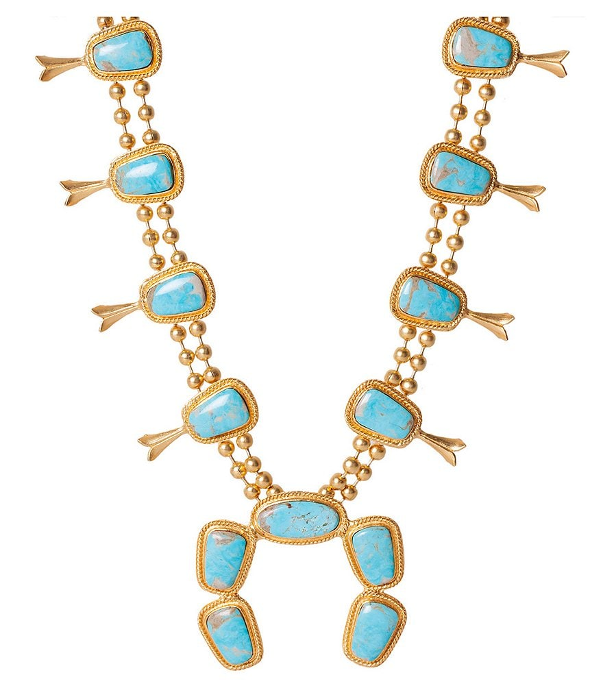 Christine Greene Navajo Squash Blossom Necklace
