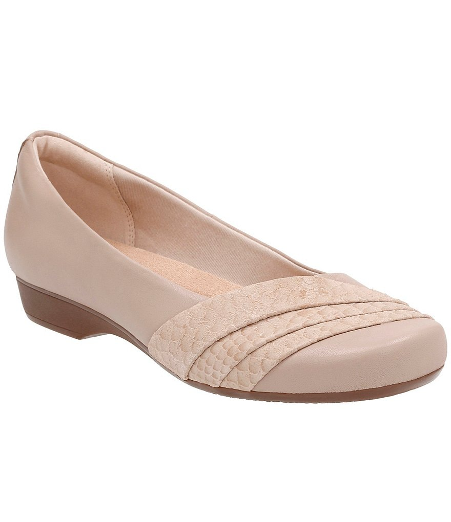 Clarks Blanche Cacee Leather & Suede Flats