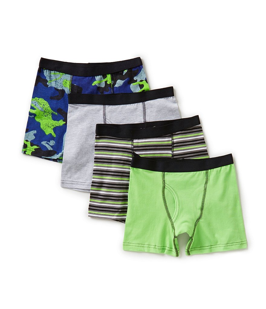 Class Club Big Boys 8-20 4-Pack Camo Print Boxer Briefs