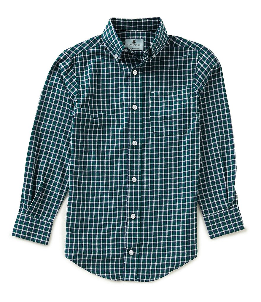 Class Club Big Boys 8-20 Checked Twill Shirt