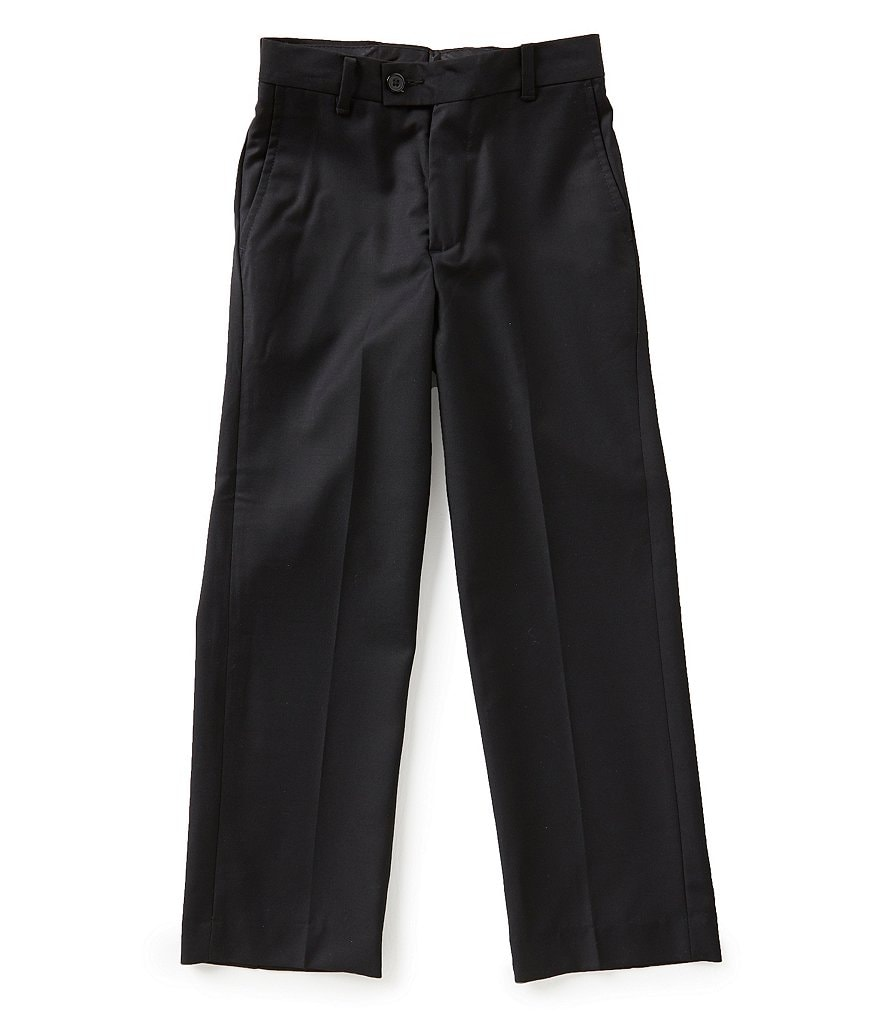 Class Club Big Boys 8-20 Flat-Front Slim-Fit Pants