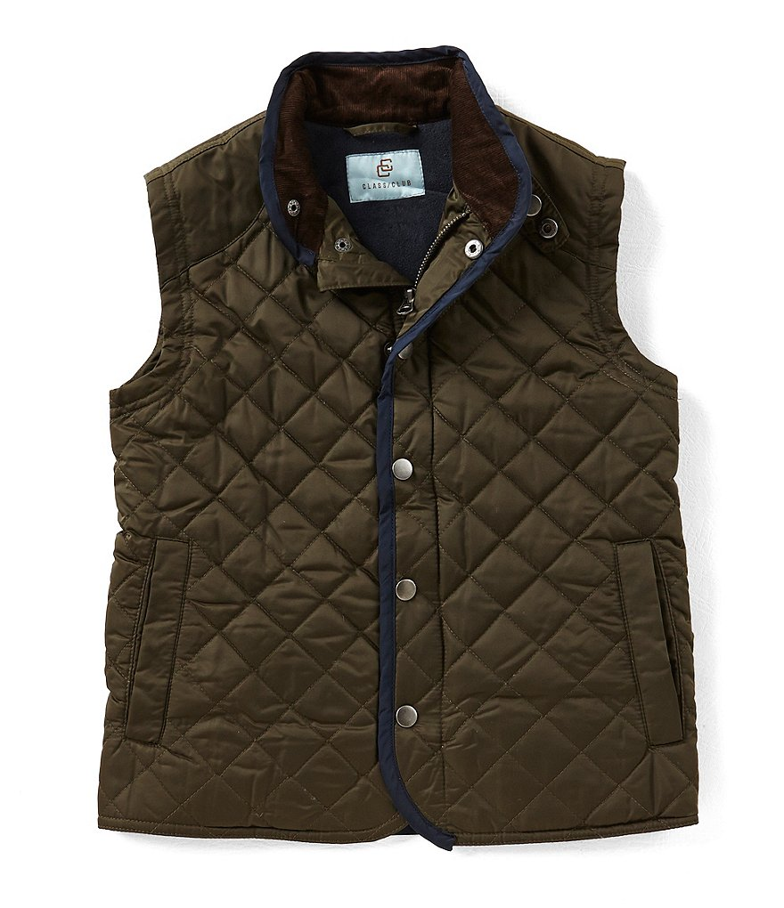 Class Club Big Boys 8-20 Quilted Corduroy-Collar Vest