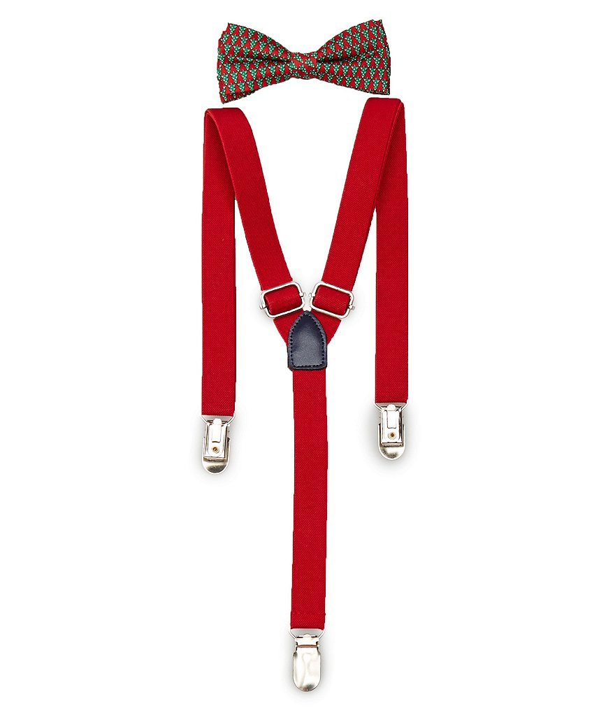 Class Club Christmas Tree Suspender and Bow Tie Set