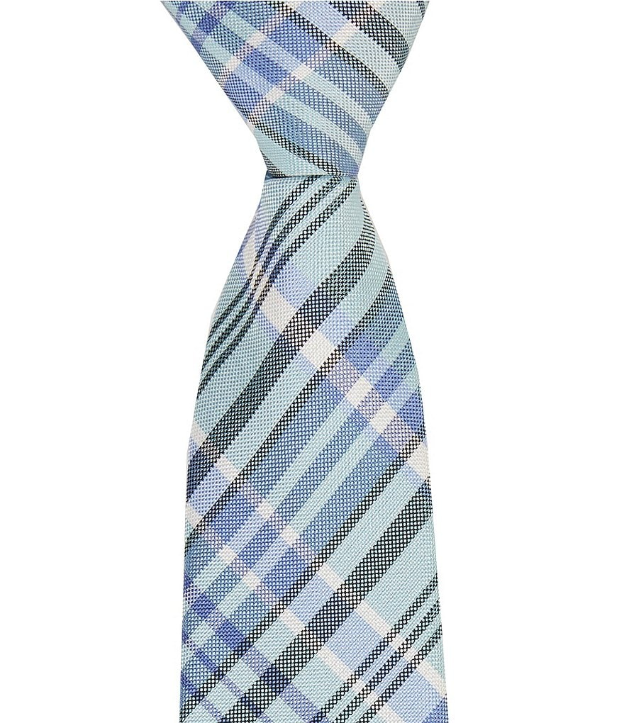Class Club Gold Label 14#double; Madras Plaid Silk Tie