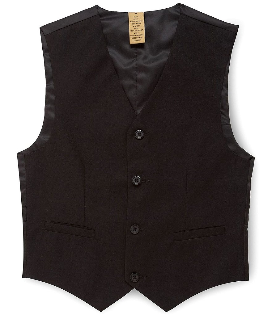 Class Club Gold Label Big Boys 8-20 Basic Black Vest
