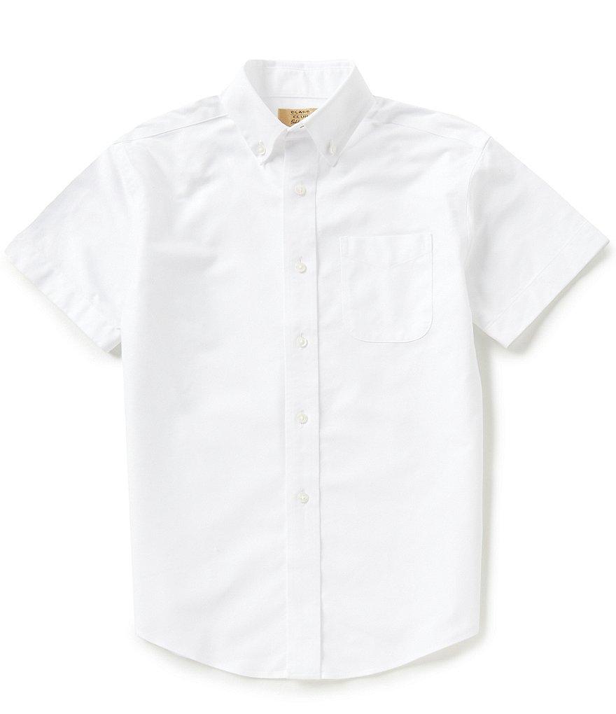 Class Club Gold Label Big Boys 8 20 Short Sleeve Oxford Shirt