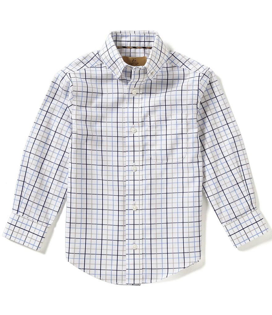 Class Club Gold Label Little Boys 2T-7 Grid-Patterned Shirt