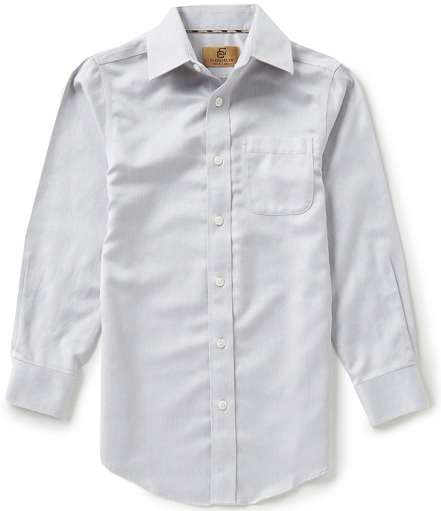 Class Club Gold Label Little Boys 2T-7 Herringbone Non-Iron Dress Shirt