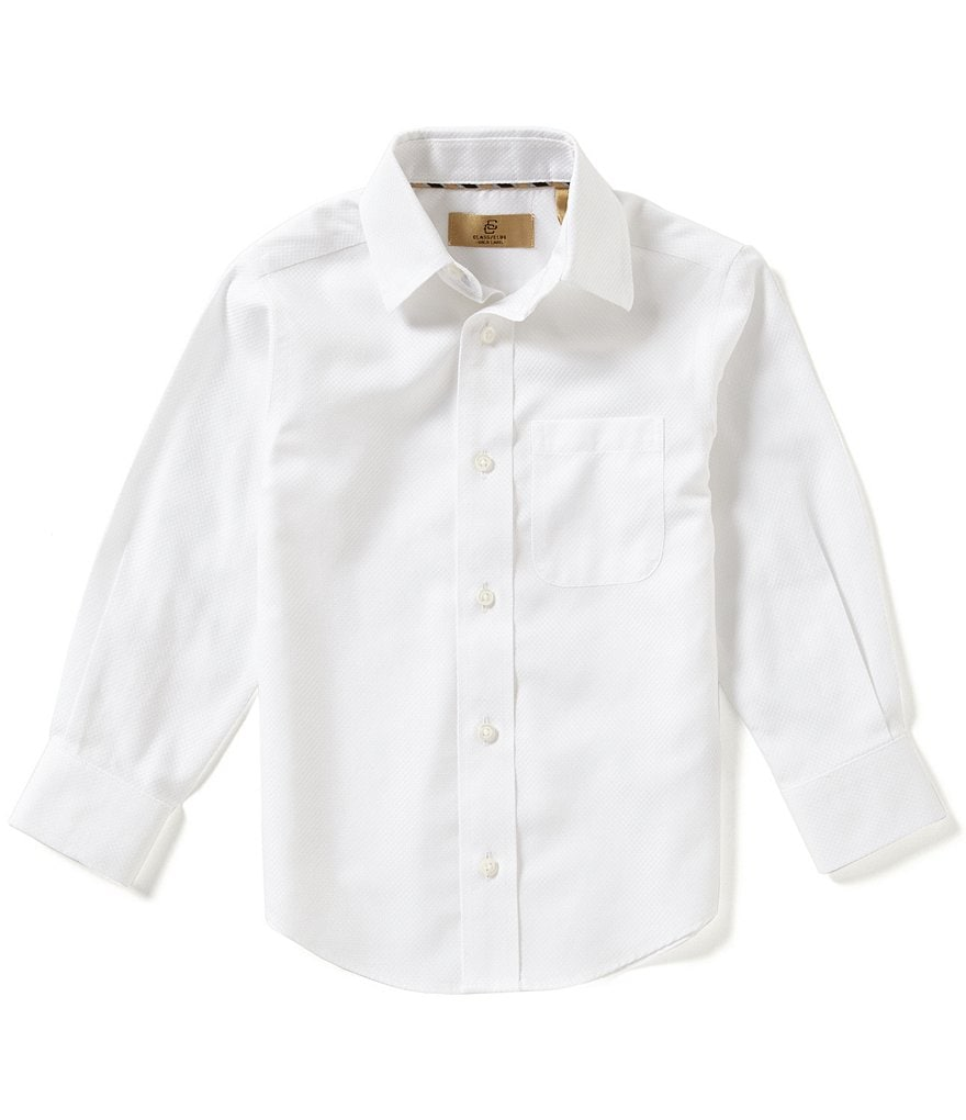 Class Club Gold Label Little Boys 2T-7 Textured Woven Shirt