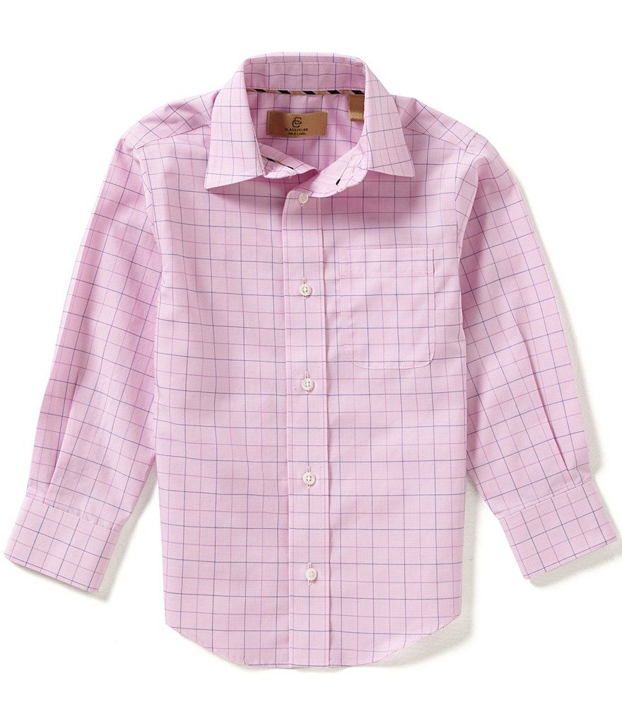 Class Club Gold Label Little Boys 2T-7 Windowpane Woven Shirt