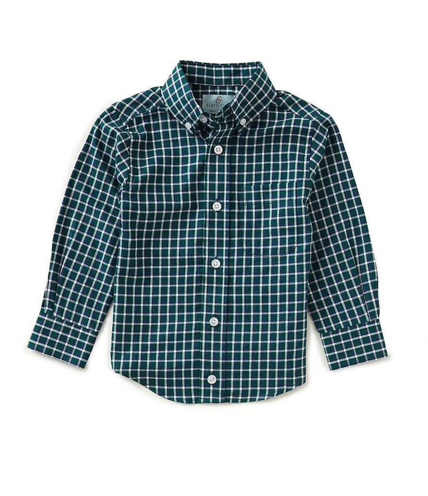 Class Club Little Boys 2T-7 Checked Twill Shirt