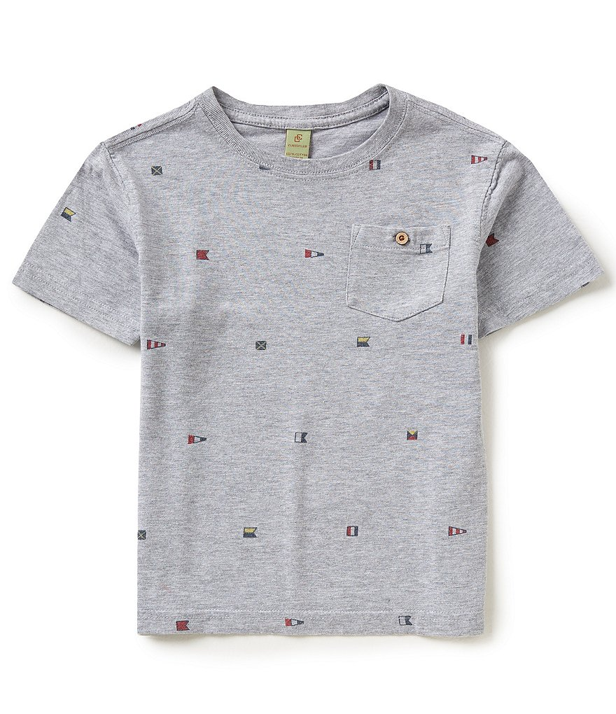 Class Club Little Boys 2T-7 Flag Tee