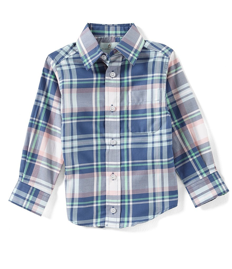 Class Club Little Boys 2T-7 Long-Sleeve Plaid Shirt