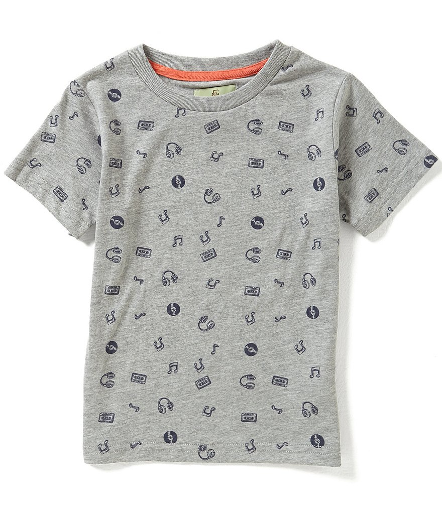 Class Club Little Boys 2T-7 Music-Print Short-Sleeve Tee