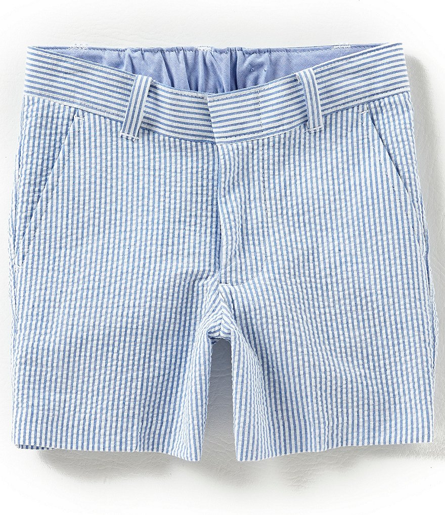 Class Club Little Boys 2T-7 Seersucker Striped Shorts