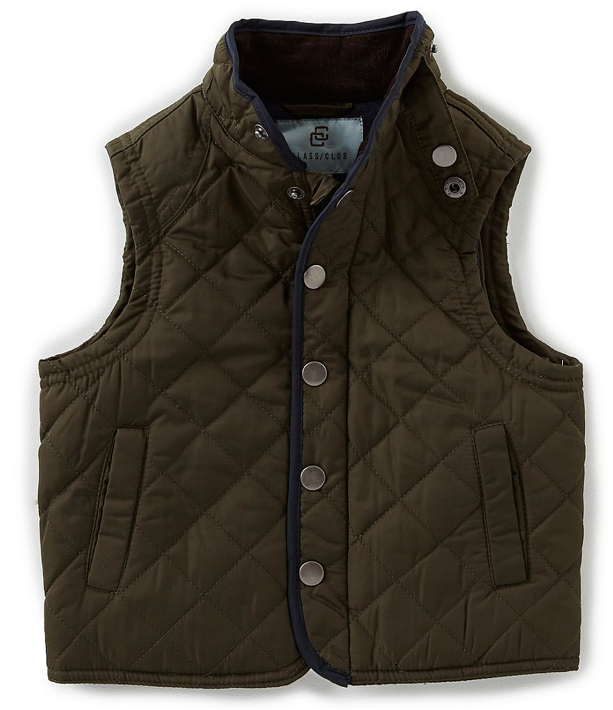Class Club Little Boys 2T-7 Snap Front Quilted Vest