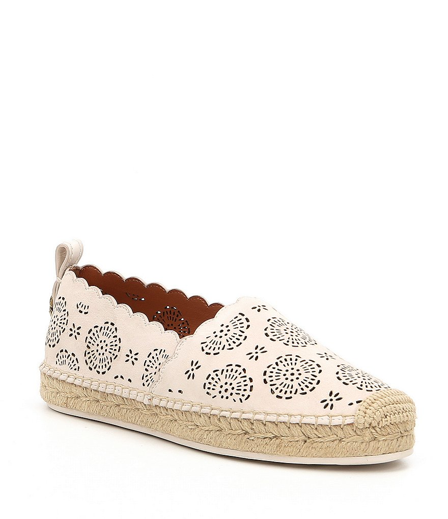 COACH ASTOR ESPADRILLES WITH CUT OUT TEA ROSE