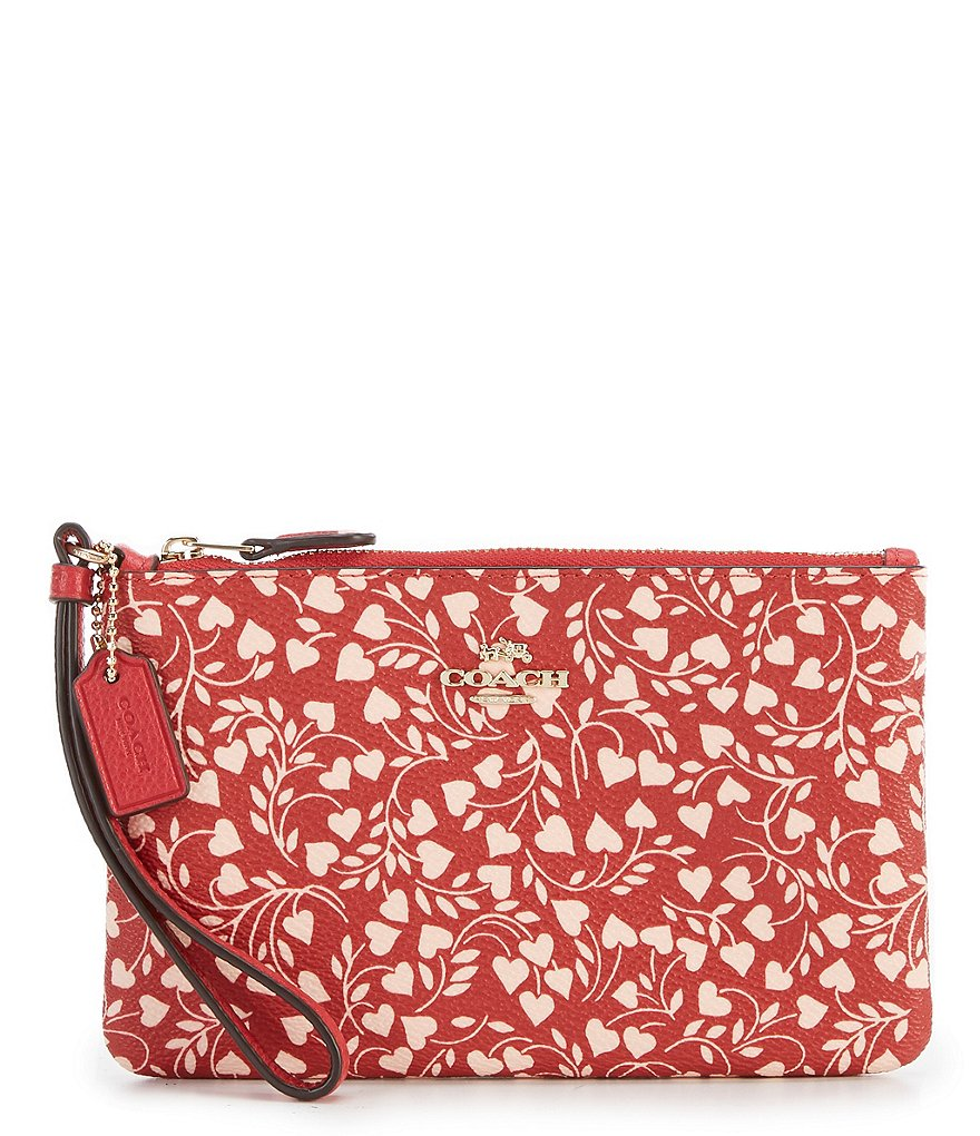 COACH BOXED LOVE LEAF PRINT SMALL WRISTLET