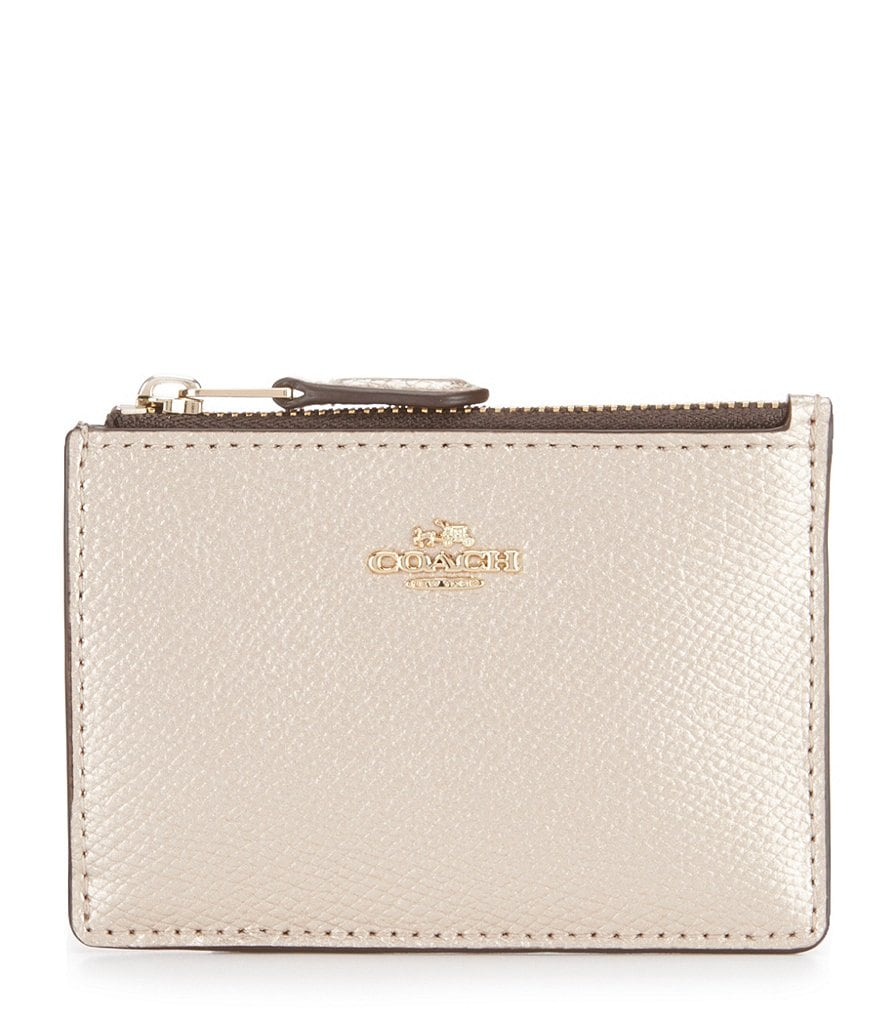 COACH BOXED METALLIC MINI SKINNY ID CASE