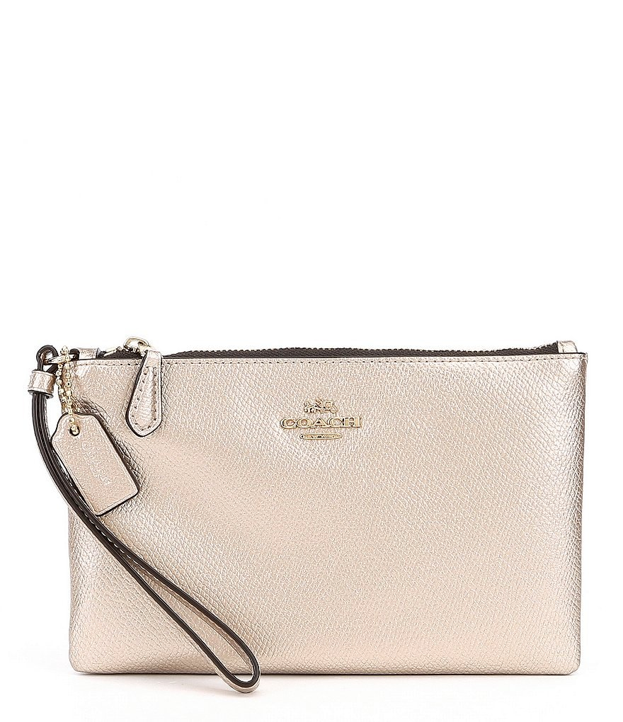 COACH BOXED METALLIC SMALL WRISTLET