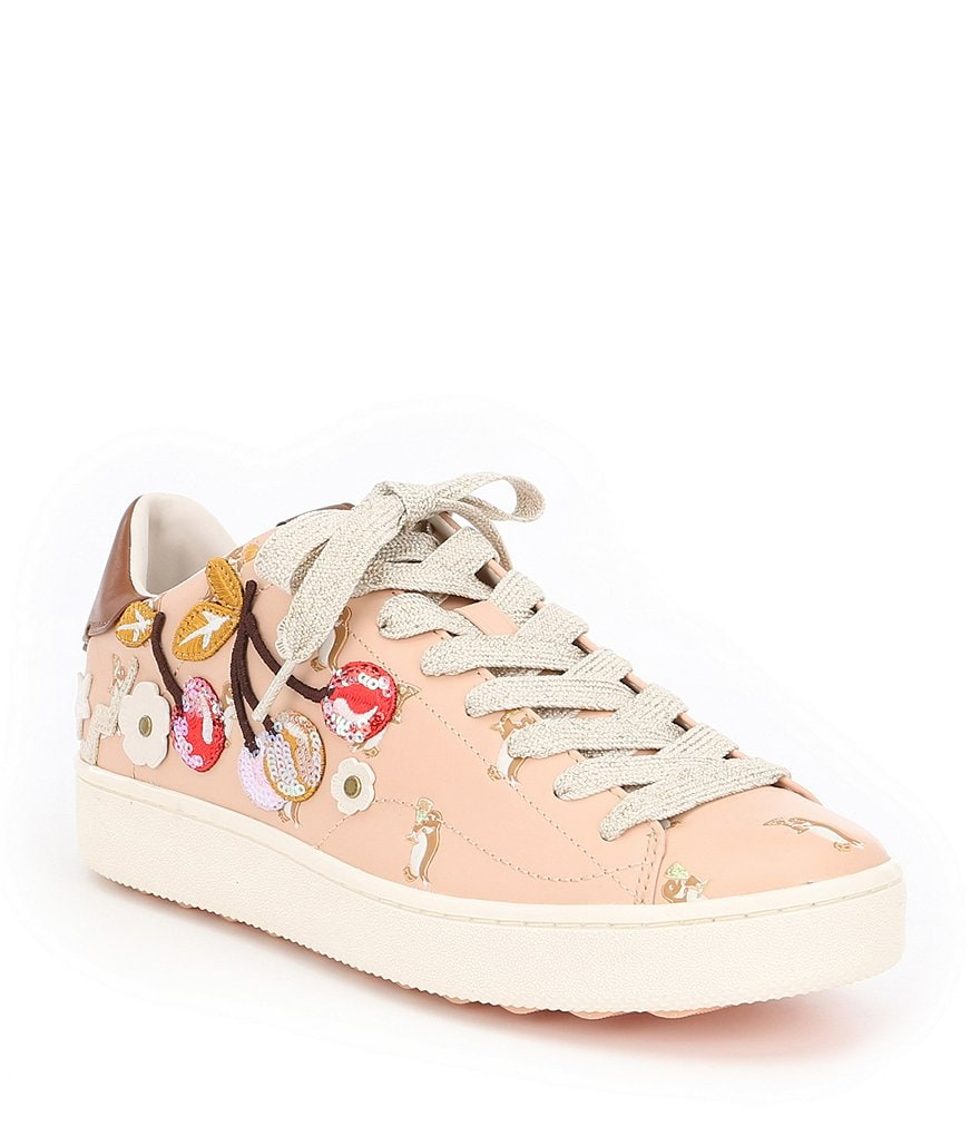 COACH C101 CHERRY PATCHES EMBELLISHMENT SNEAKER