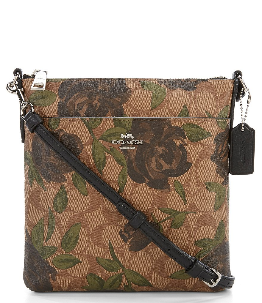 COACH CAMO ROSE FLORAL CROSS-BODY BAG