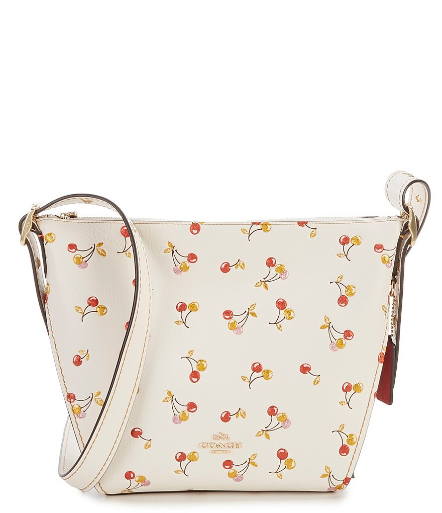 COACH CHERRY-PRINTED SMALL CROSS-BODY BAG