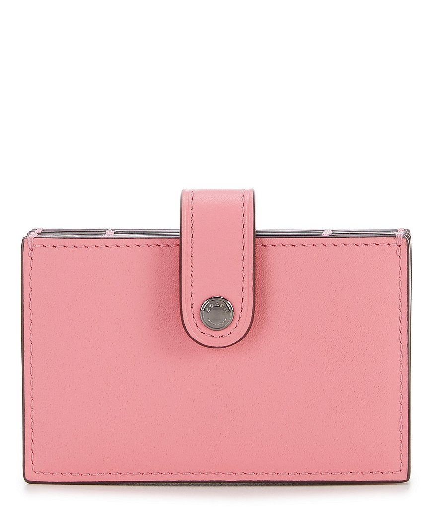 COACH COLORBLOCK ACCORDION CARD CASE