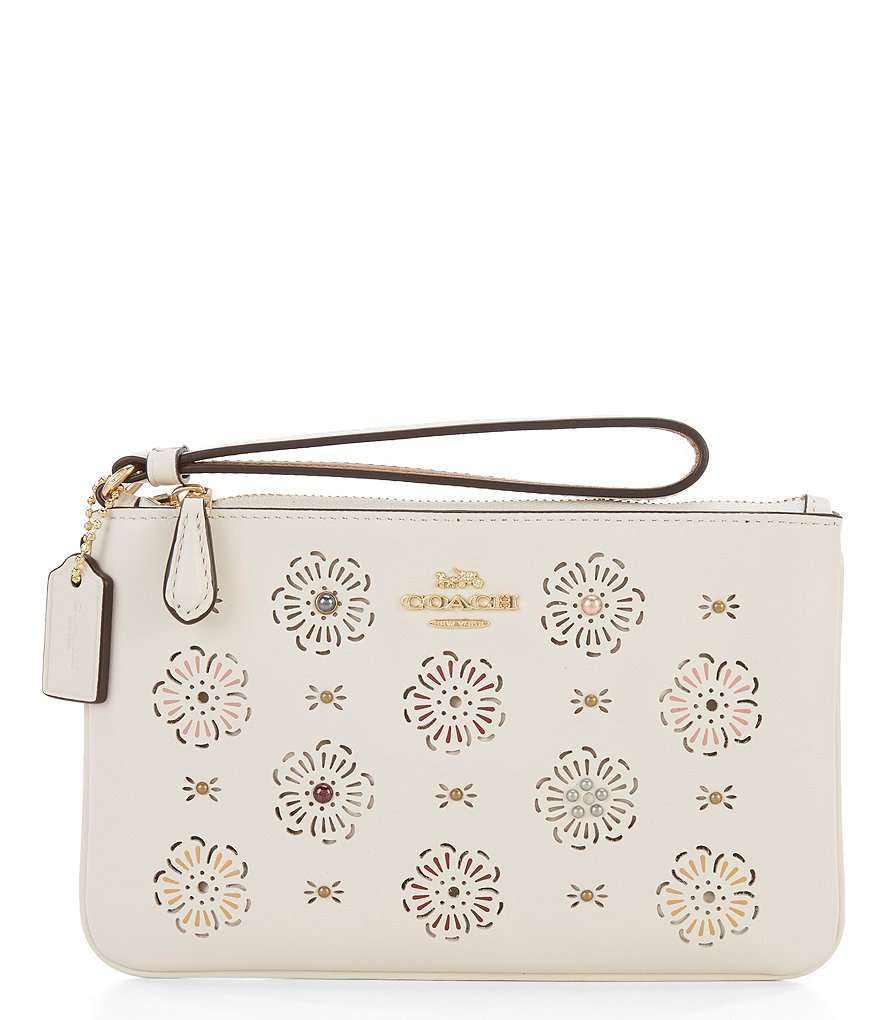 COACH CUT OUT TEA ROSE BOXED SMALL WRISTLET