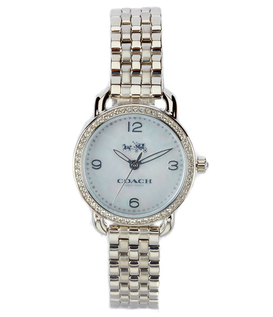 COACH DELANCEY STAINLESS STEEL BRACELET WATCH