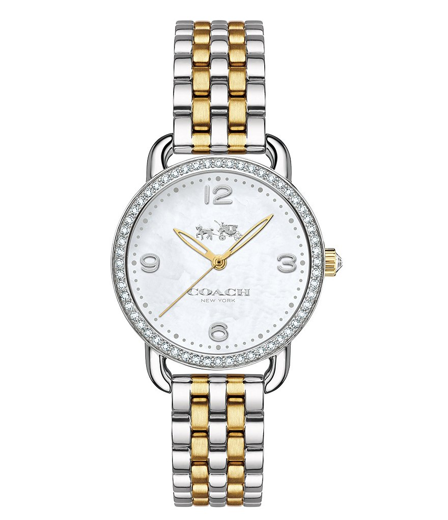 COACH DELANCEY TWO-TONE BRACELET WATCH