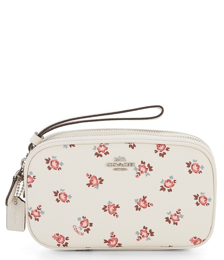 COACH FLORAL BLOOM BOXED CROSS-BODY CLUTCH