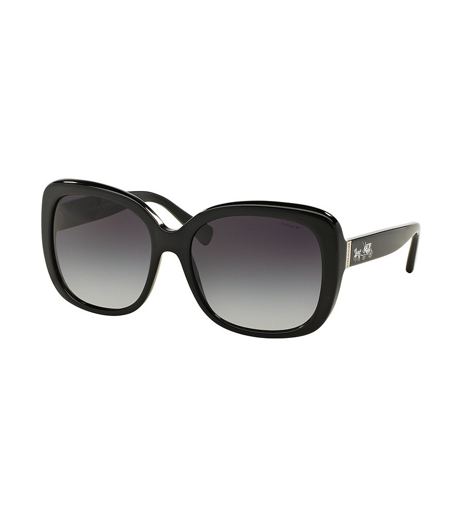 COACH HORSE & CARRIAGE LOGO SQUARE GRADIENT SUNGLASSES