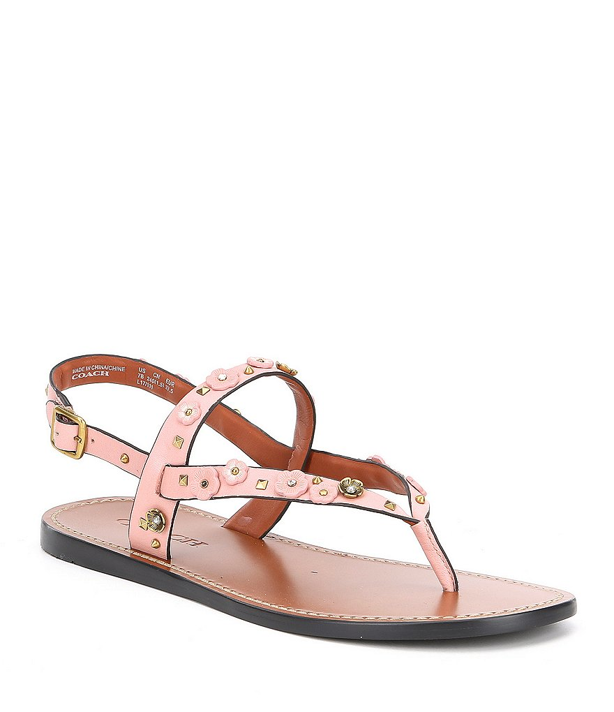 COACH HUDSON TEA ROSE SANDAL