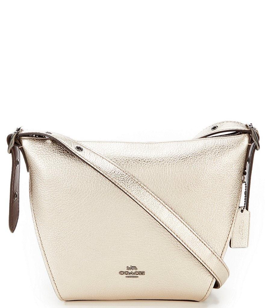 209b56044677 COACH Metallic Small Dufflette Hobo Bag