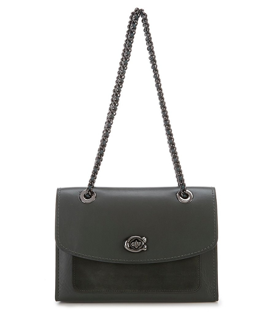 COACH PARKED COLORBLOCK MIXED-MATERIAL SHOULDER BAG