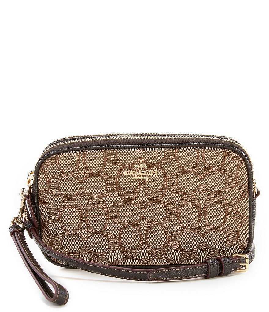 COACH SIGNATURE JACQUARD BOXED CROSS-BODY CLUTCH