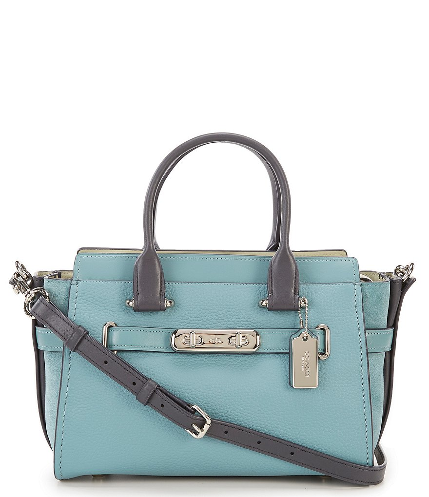 COACH SWAGGER 27 COLORBLOCK SATCHEL