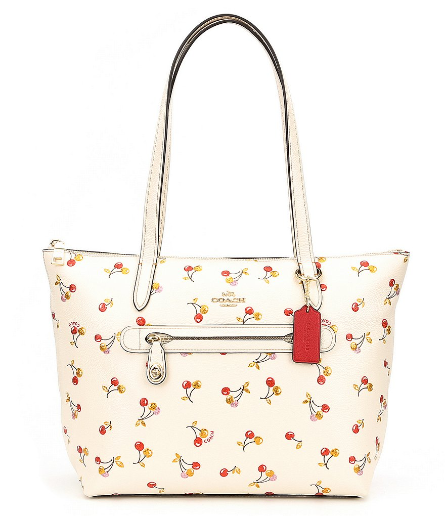 COACH TAYLOR CHERRY-PRINTED TOTE