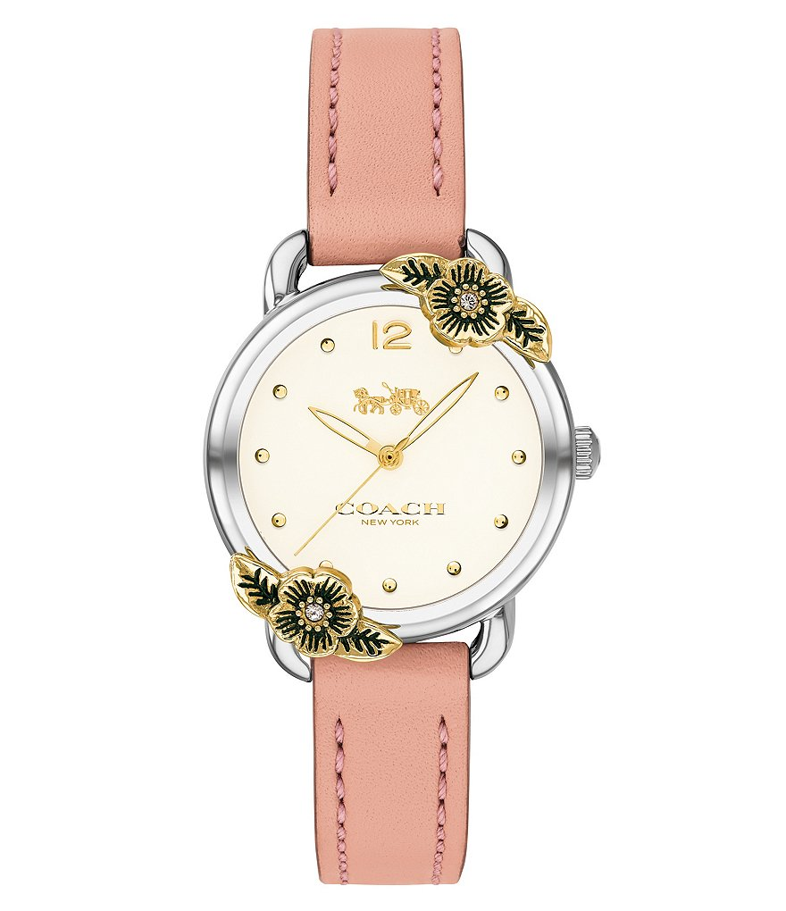 COACH The Delancey Tea Rose Watch
