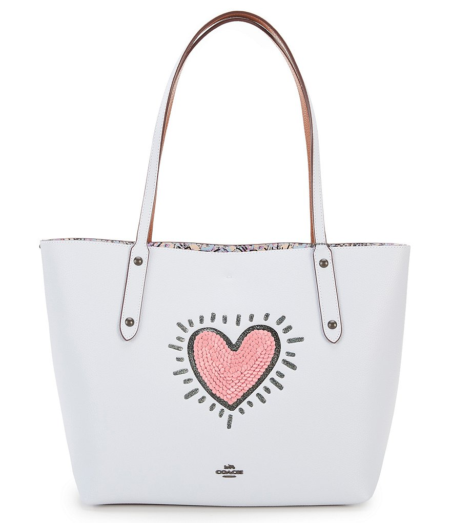 VIDA Statement Bag - hearts butterflies pink b by VIDA
